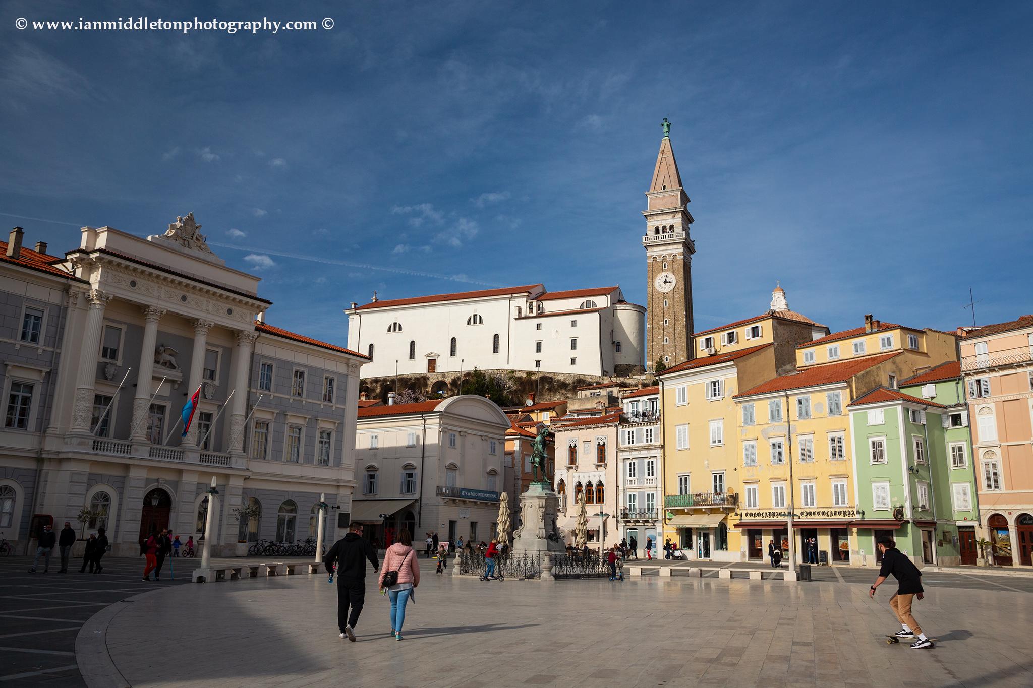 Tartini Square in Piran, Slovenia