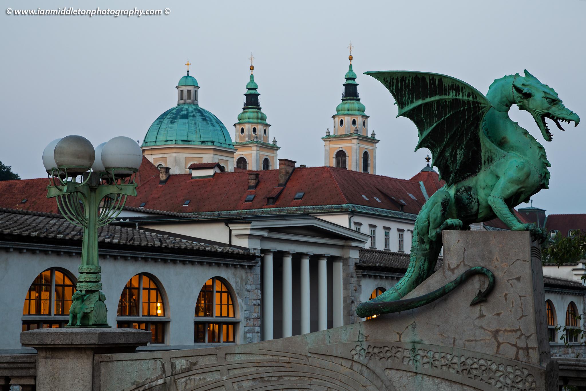 Dragon Bridge in Ljubljana, Slovenia.