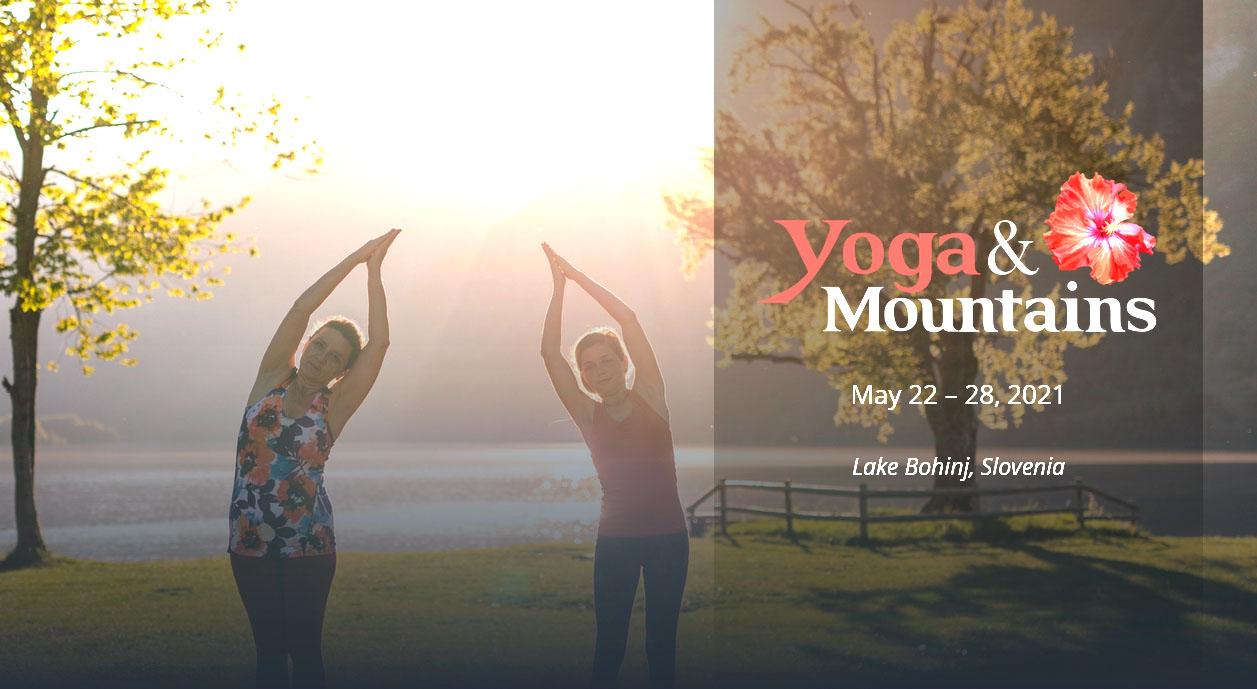 Yoga retreat at Lake Bohinj, Slovenia.