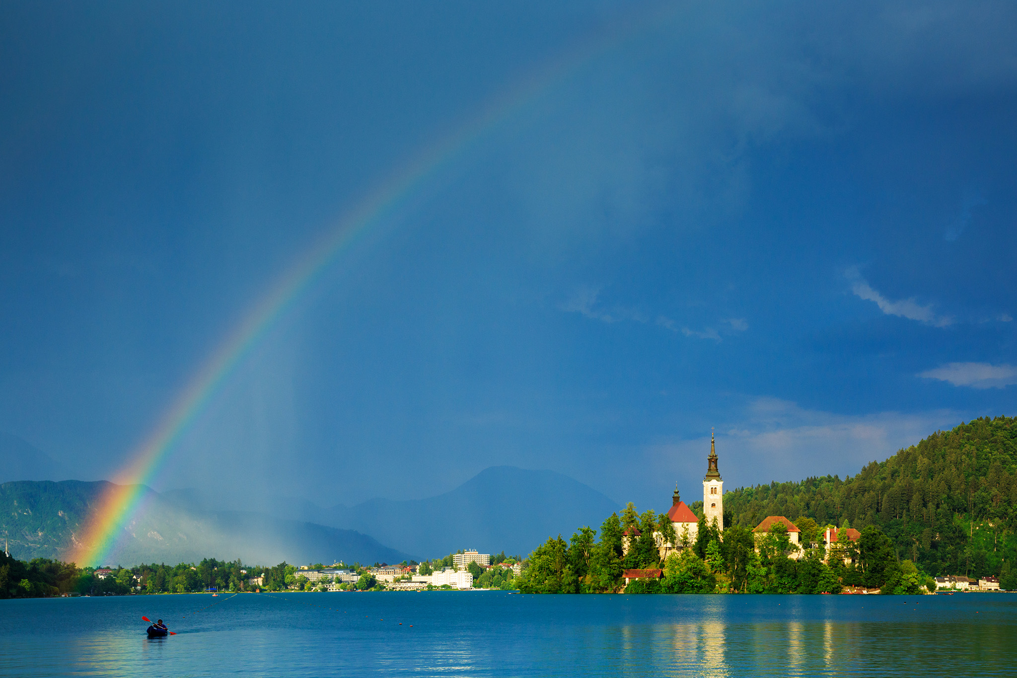 Rainbow over Lake Bled