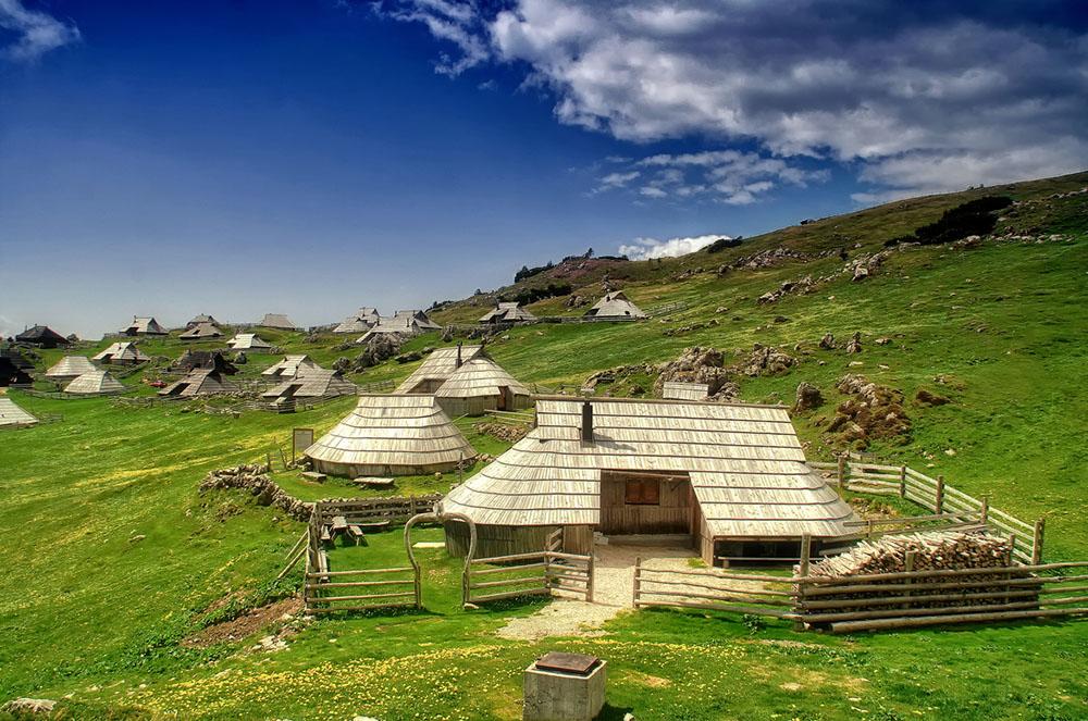 Shepherd huts on Velika Planina, Slovenia