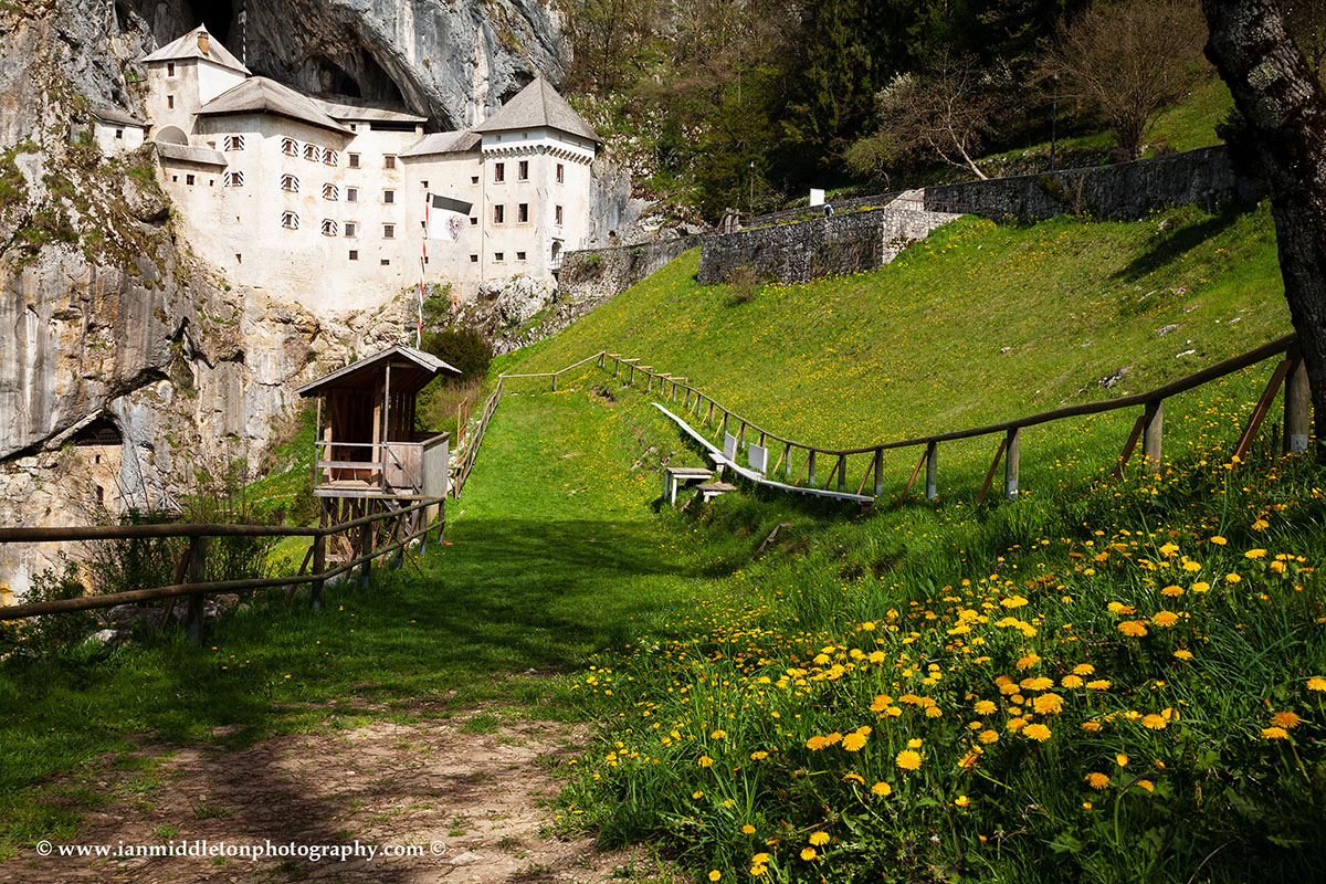 The fabulous Predjama Castle, wedged into a cave opening in a 123-metre tall cliff in Slovenia.