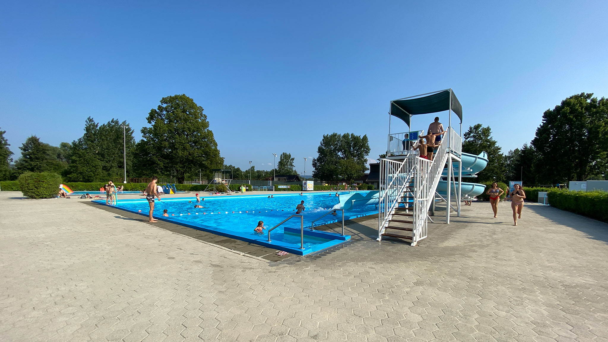 Domzale swimming pool, Slovenia.